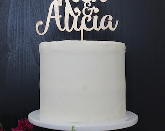 Personalized Names Wedding Cake Topper | Custom Name