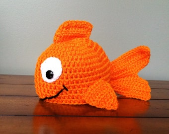 Little Goldfish Fish Hat (You Choose Size Newborn - Adult) Any Color