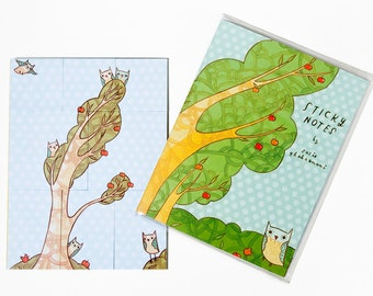 Owl STICKY NOTES - post it notes, planner sticky notes, office supplies, planner accessories, office gifts, page marker, sticky note set