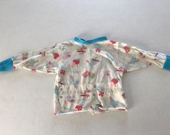 Vintage snap on pajamas top size 3t