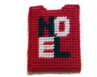 Plastic Canvas Gift Card Holder Noel, needlecraft, Christmas gift, handmade, Merry Christmas,  christmas decoration, children gift