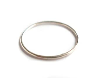 Silver ring very thin very fine 925 silver stacking knuckle ring ankle ring stacking