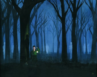 Ghosts - Art Print 8x10