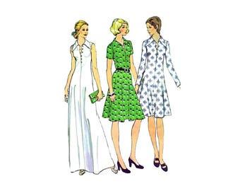 1970s Misses Dress McCalls 4059 Vintage Sewing Pattern Size 12 Bust 34 UNCUT
