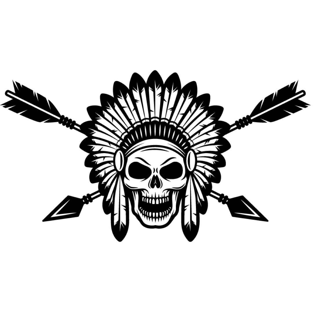 Indian logo 1 native american warrior skull axe headdress zoom buycottarizona Images
