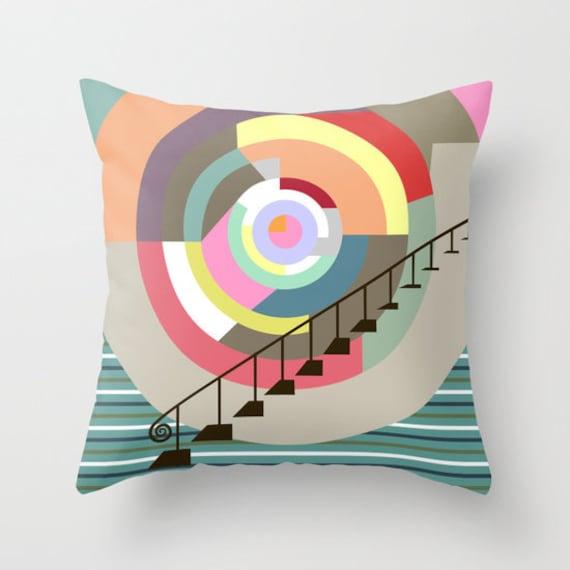 Colourful Pillows, Pop Art Pillow,  Cute Throw Pillows, Designer Throw Pillows, Decorative Throw Pillows