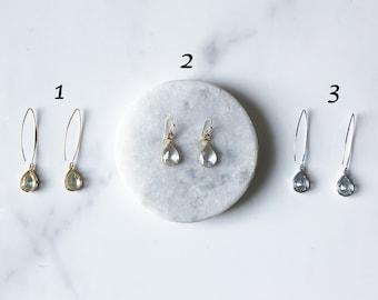 Summer Crystal Earrings / Drop Crystal Earrings / Diamond Earrings / Silver Rhinestone Earrings / Gold Diamond Earrings / Delicate Earrings