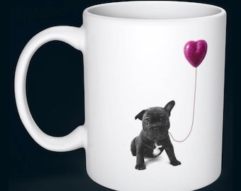 Cute French Bulldog Puppy Love Mug