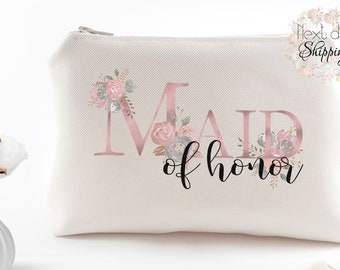 Maid of honor proposal - Maid of honor gift - Maid of honor bag - Personalized makeup bags - Bachelorette favors - Bachelorette party favors