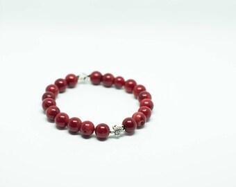 MarkRak red coral bracelet