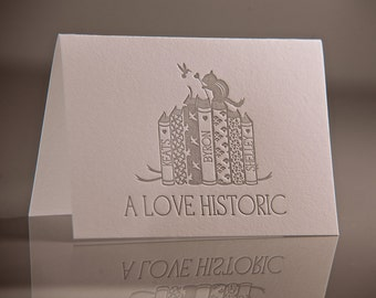 A Love Historic Poets Card - Keats, Byron, Shelly Poetry - Romantic Wedding Card - Literature Cards - Valentine Card - Letterpress Cards