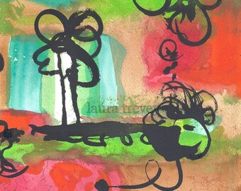 All That Jazz Watercolor Print