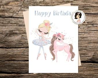 Ballerina Birthday Card - Cards for Children