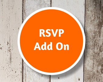 RSVP Add On - Get a matching RSVP card for your Instant Invitation template