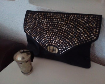 Moroccan  leather clutch bag