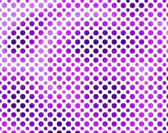 Half Yard Fabric-Ombre Dots-QT Fabrics-Purple Dot