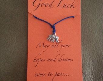 Blue Good Luck Elephant Bracelet