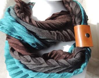 Handmade Leather Scarf Cuff