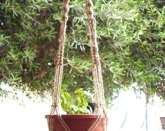 Macrame Plant Hanger Natural Jute Vintage Style 58 inch
