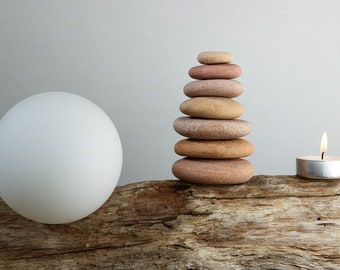 Beach Stone Cairn - Stress Relief Gift - Relaxation - Mindfulness - Zen Balance - Baltic Sea Pebbles