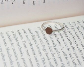 Copper Hexagon Stacking Ring