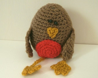 Crochet pattern PDF - Rocky the Robin