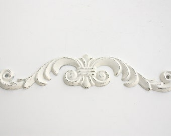 Shabby Cottage Chic Cast Iron Wall Scroll