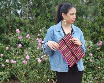 Bolivian inspired clutch bag