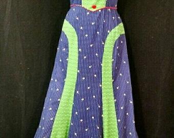 Handmade, vintage 1970's maxi dress