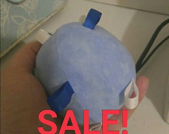 End of bolt SALE!  Blue soft baby ball toy