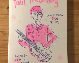 Paul McCartney Unofficial Fan Zine by Lizz Lunney and Wilm Lindenblatt Beatles Art + Free Postcard!
