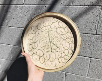 Ceramic Peace Sign Plate