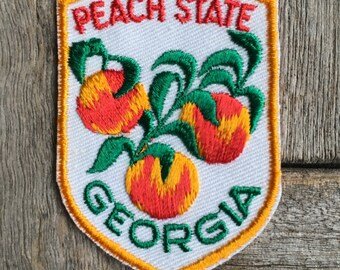 Peach State Georgia Vintage Souvenir Travel Patch from Voyager