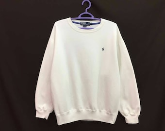 Rare!! Vintage Polo Ralph Lauren Small Pony Embroidery Pullover Jumper Sweatshirt