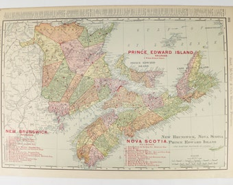 1903 nova scotia map new brunswick prince edward island map cape breton island canada