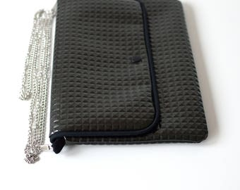 SILVER - Bag / clutch with detachable chain