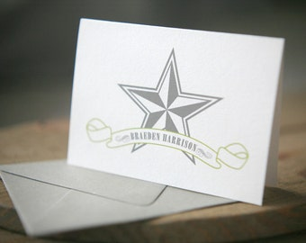 Personalized Stationery - Nautical Star Note Set