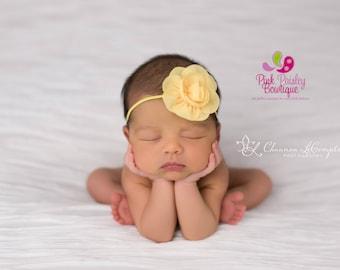 Baby Headband - You pick 1 Chiffon Headband - Lavendar Infant Headbands - Baby Girl Headbands - Baby Hair Accessories - Newborn Headbands