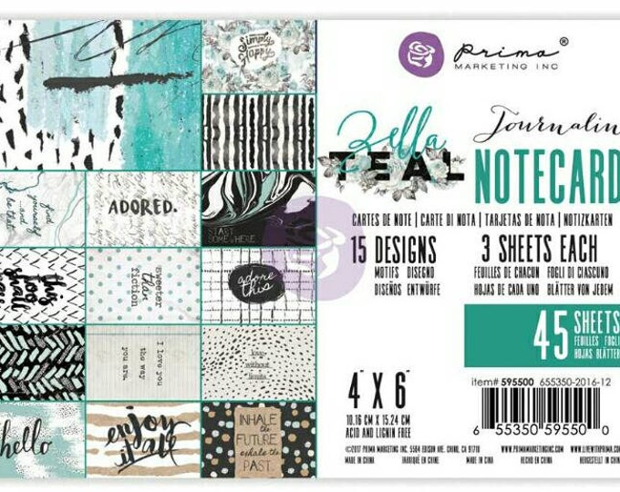 Prima zella teal 4x6 card pack