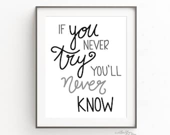 If you Never Try....
