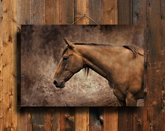Brown Horse - Brown Horse photography - Brown Horse Decor - Brown Horse Art - Animal Photography - Brown Rustic Decor - Equine Decor