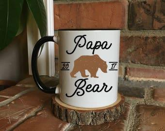 New Papa bear mug, Papa dad bear Mug, New Grandpa Mug, Grandpa Gift, Coffee Mug, Fathers Day Gift, New Grandpa, Grandpa Mug, papa bear
