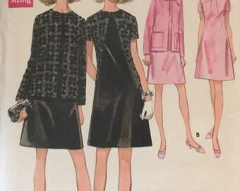 "Butterick 5531 Women's One-Piece Dress and Jacket Pattern, UNCUT, Size 38, Bust 42"", Vintage 1970s, A line Dress, Retro, Wedding"