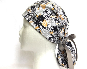 Scrub Cap, Ponytail Scrub Cap for Women, Yellow and Blue, white, Scrub hats, Scrub caps, scrub hat, surgical scrub cap, surgical scrub hats