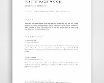 Professional Resume Template, Resume Template Mac, Resume Template Word,  Modern Resume Template,