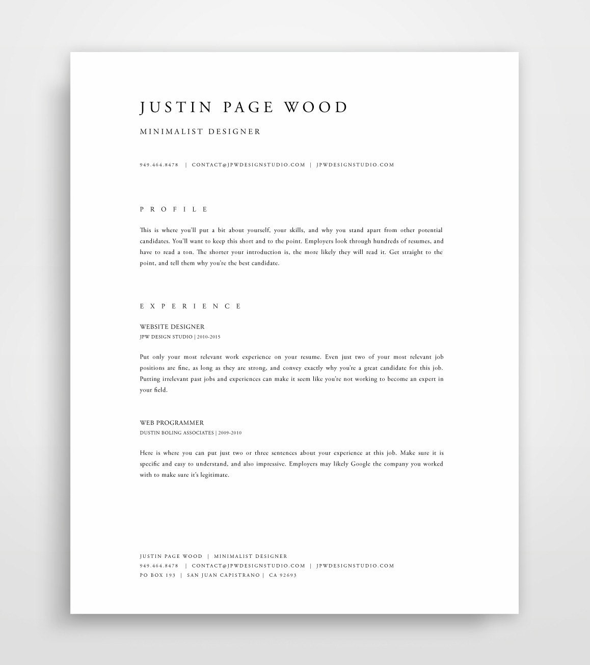 professional resume template resume template mac resume