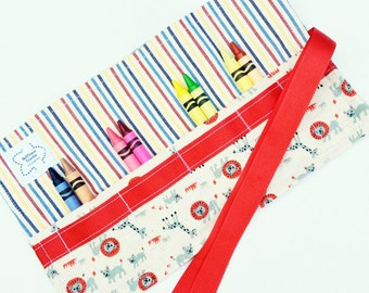 Crayon roll up, on the go mom, diaper bag accessory, purse organizer, coloring, birthday party favor, gifts for mom, gifts for toddler