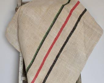 Hungarian sack - red, green, black stripe.
