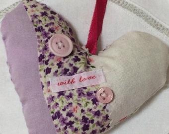 Lavender Heart Lavendar Bag