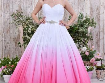 Ombre wedding dress, colored wedding dress, colorful wedding dress